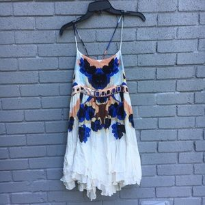 Free People Rorschach floral dress XS